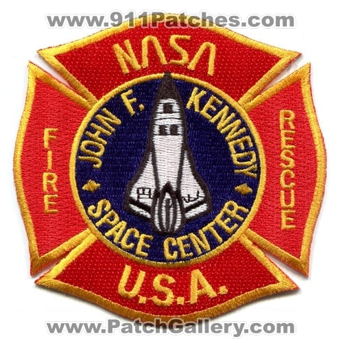 John F Kennedy Space Center NASA Fire Rescue Department Patch Florida FL