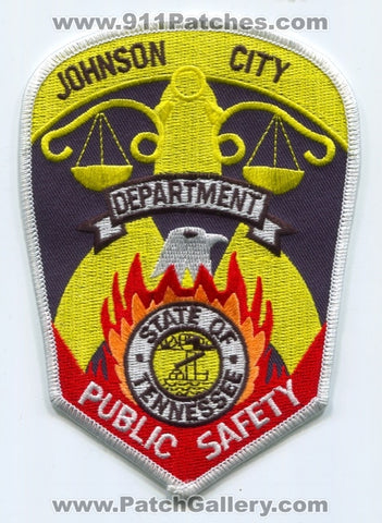 Johnson City Public Safety Department DPS Fire Police Patch Tennessee TN