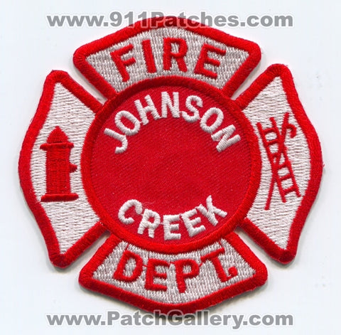 Johnson Creek Fire Department Patch Wisconsin WI