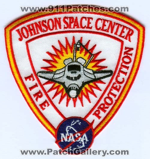 Johnson Space Center Fire Protection NASA Patch Texas TX