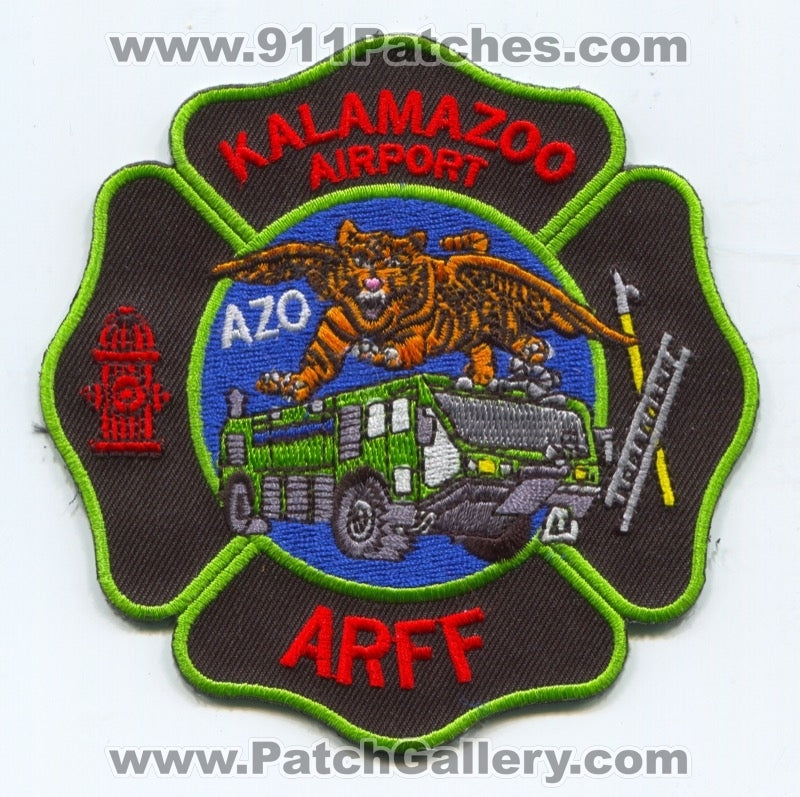 Kalamazoo Airport Fire Department ARFF Patch Michigan MI
