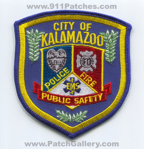 Kalamazoo Fire EMS Police Department of Public Safety DPS Patch Michigan MI