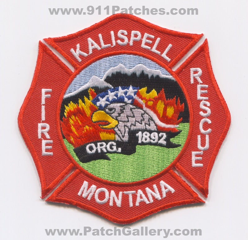Kalispell Fire Rescue Department Patch Montana MT