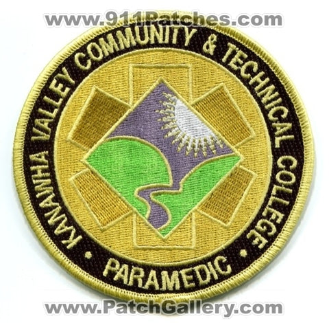 Kanawha Valley Community and Technical College Paramedic EMS Patch West Virginia WV