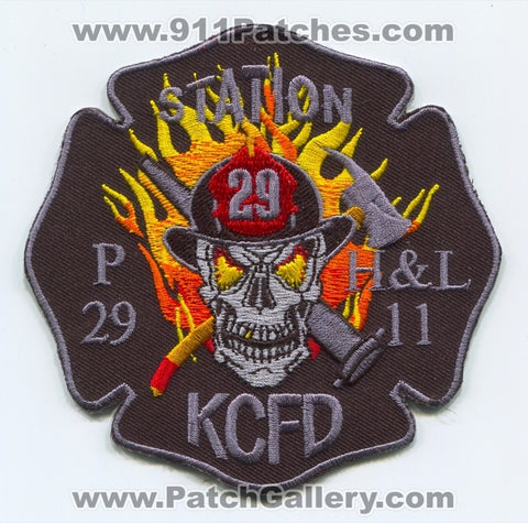 Kansas City Fire Department Station 29 Patch Missouri MO