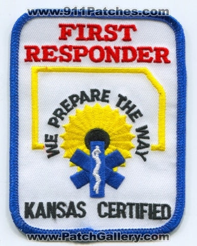 Kansas State Certified First Responder EMS Patch Kansas KS