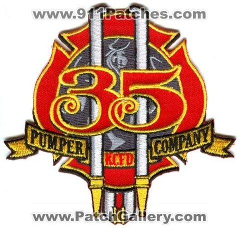 Kansas City Fire Department Pumper Company 35 Patch Missouri MO