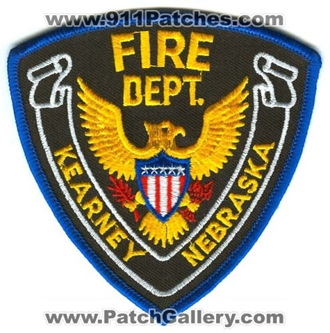 Kearney Fire Department Patch Nebraska NE