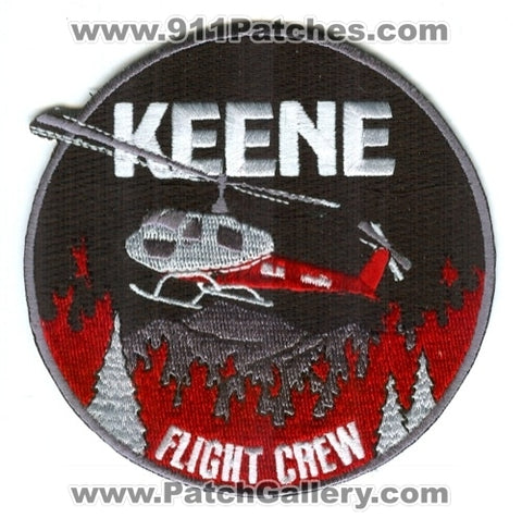 Keene Flight Crew Helicopter Forest Fire Wildfire Wildland Patch California CA