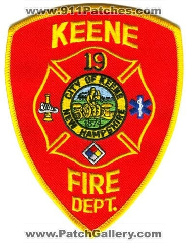 Keene Fire Department 19 Patch New Hampshire NH