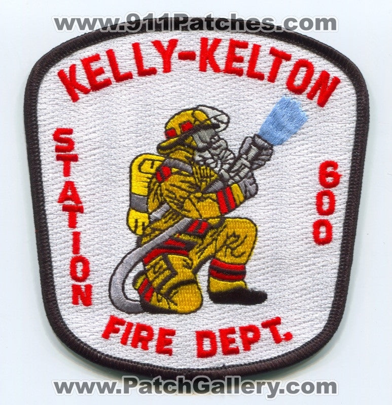 Kelly Kelton Fire Department Station 600 Patch South Carolina SC