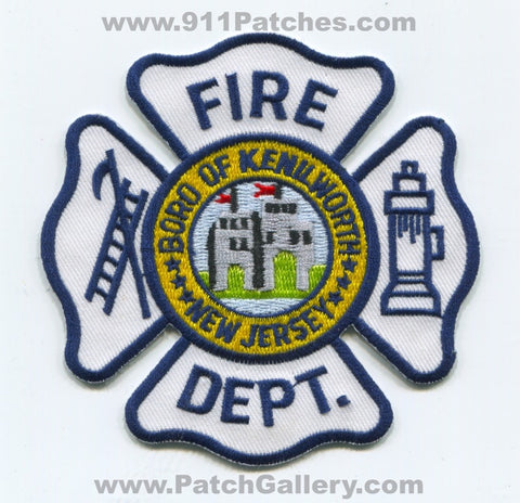 Kenilworth Borough Fire Department Patch New Jersey NJ