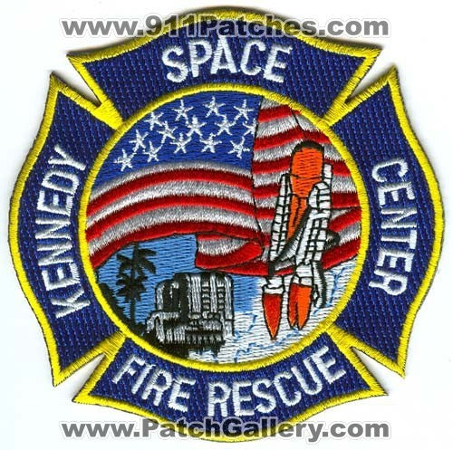 Kennedy Space Center Fire Rescue Department NASA Patch Florida FL