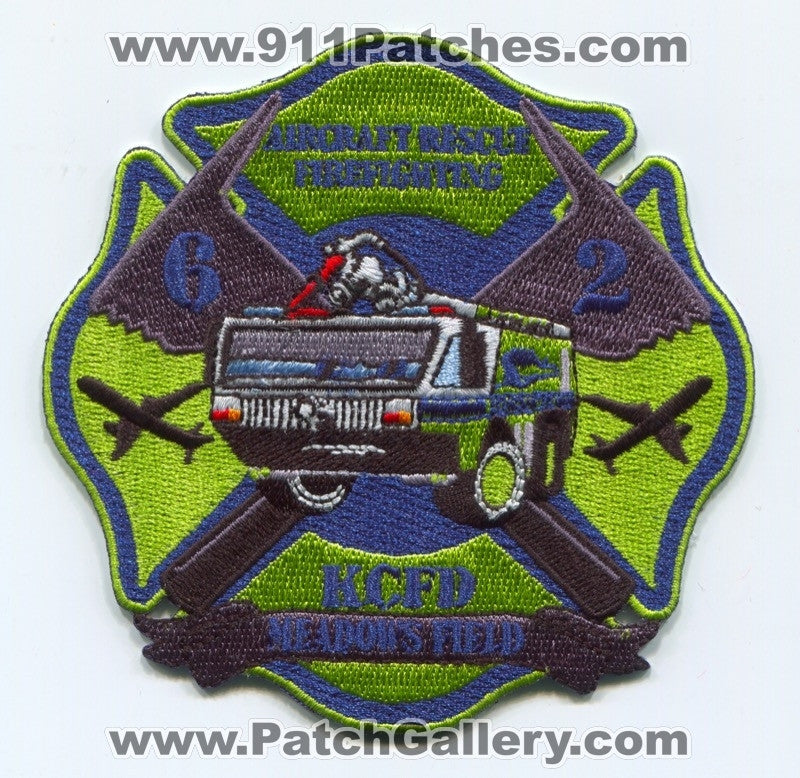 Kern County Fire Department Station 62 ARFF Patch California CA