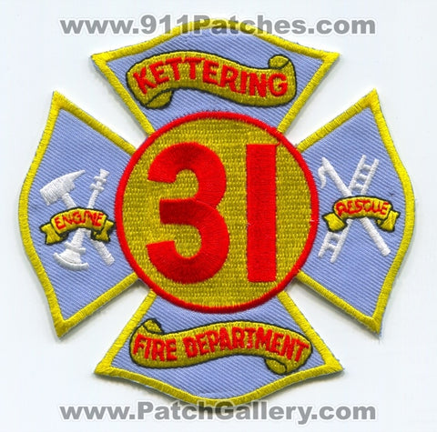 Kettering Fire Department Station 31 Patch Ohio OH
