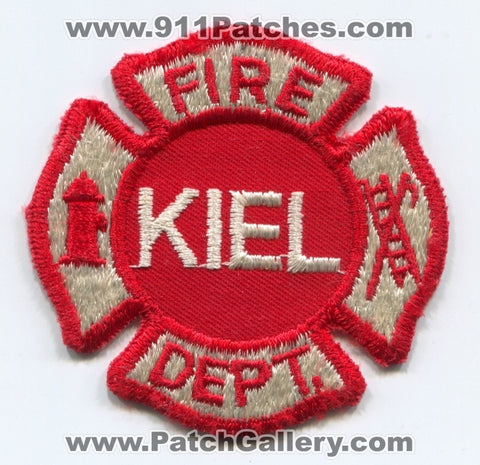 Kiel Fire Department Patch Wisconsin WI - SKU98