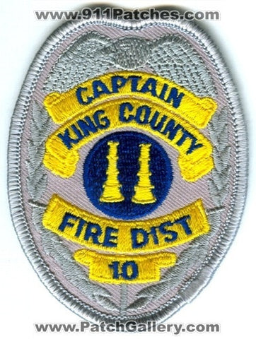 King County Fire District 10 Captain Patch Washington WA