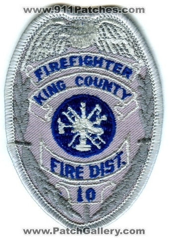 King County Fire District 10 Firefighter Patch Washington WA