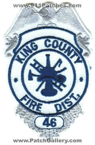 King County Fire District 46 Patch Washington WA