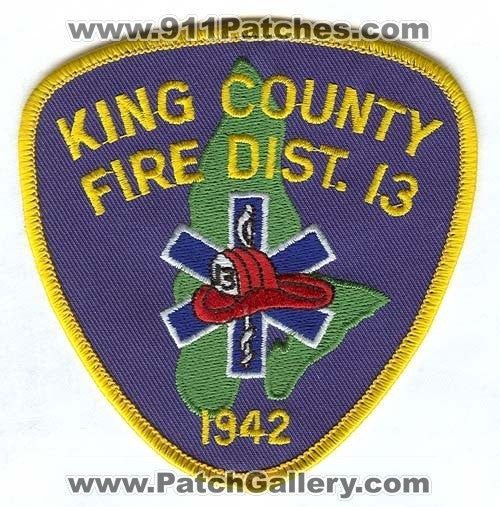King County Fire District 13 Patch Washington WA