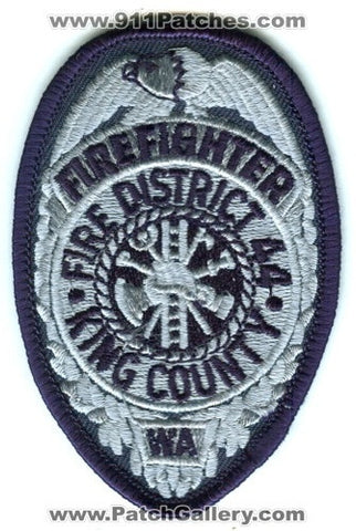King County Fire District 44 FireFighter Patch Washington WA