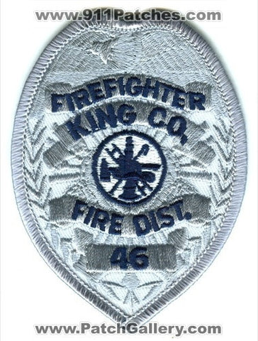 King County Fire District 46 FireFighter Patch Washington WA