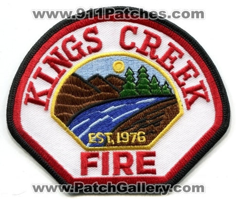 Kings Creek Fire Department Patch North Carolina NC