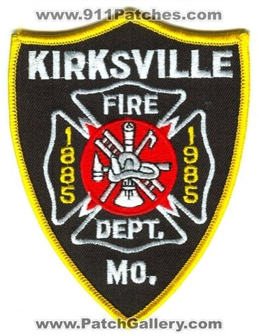 Kirksville Fire Department 100 Years Patch Missouri MO