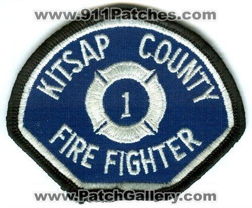 Kitsap County Fire District 1 Firefighter Patch Washington WA