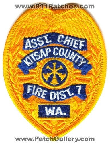 Kitsap County Fire District 7 Assistant Chief Patch Washington WA