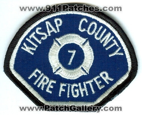 Kitsap County Fire District 7 Firefighter Patch Washington WA