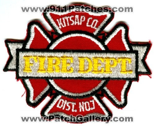 Kitsap County Fire District 7 Patch Washington WA
