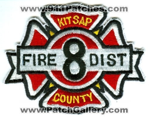 Kitsap County Fire District 8 Patch Washington WA