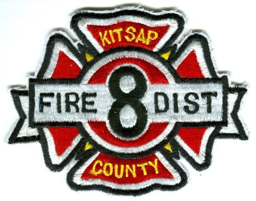 Kitsap County Fire District Number 8 Patch Washington WA - SKU100