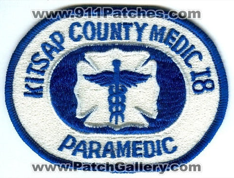 Kitsap County Medic 18 Paramedic EMS Patch Washington WA