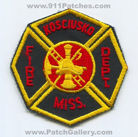 Kosciusko Fire Department Patch Mississippi MS