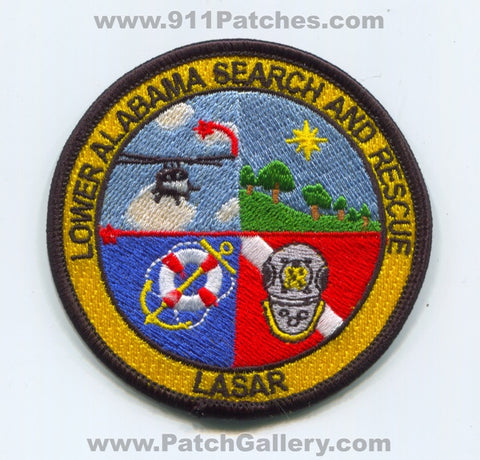 Lower Alabama Search and Rescue LASAR Patch Alabama AL