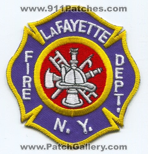LaFayette Fire Department Patch New York NY