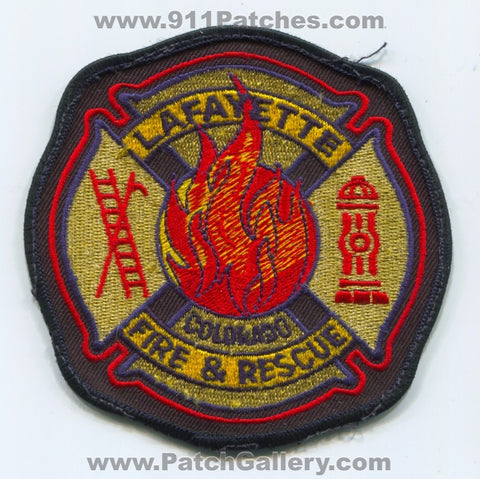 Lafayette Fire and Rescue Department Patch Colorado CO