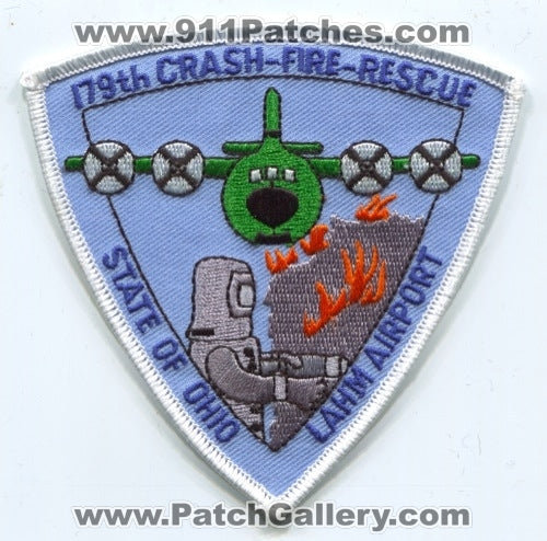 179th Airlift Wing AW Crash Fire Rescue CFR Department Lahm Airport USAF Military Patch Ohio OH