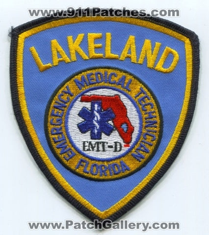 Lakeland Fire Rescue Department EMT-D EMS Patch Florida FL