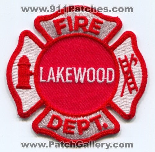 Lakewood Fire Department Patch Illinois IL