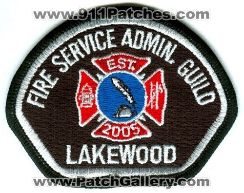 Pierce County Fire District 2 Lakewood Fire Service Admin Guild Patch Washington WA