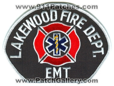 Lakewood Fire Department EMT EMS Patch Washington WA
