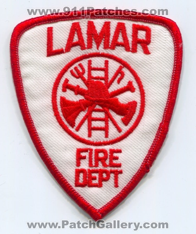 Lamar Fire Department Patch Colorado CO