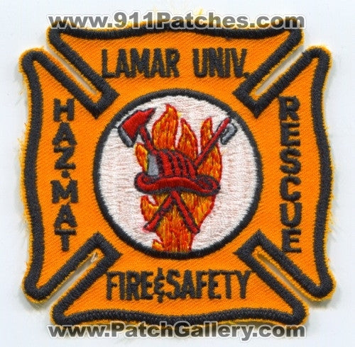 Lamar University Fire and Safety Department Patch Texas TX