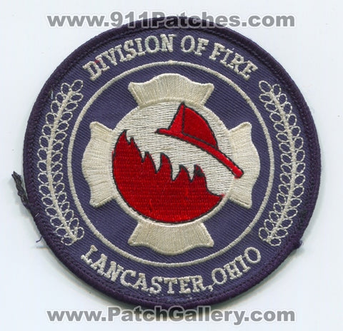 Lancaster Division of Fire Department Patch Ohio OH