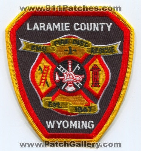 Laramie County Fire District 1 Patch Wyoming WY