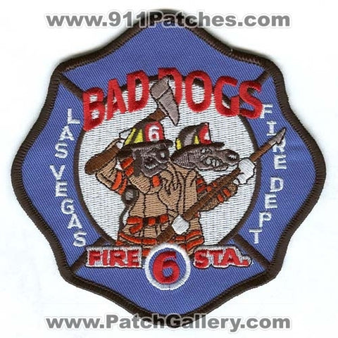 Las Vegas Fire Department Station 6 Patch Nevada NV