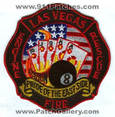 Las Vegas Fire Department Station 8 Patch Nevada NV